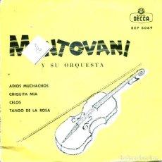 Discos de vinilo: MANTOVANI / ADIOS MUCHACHOS + 3 (EP 1962 CON TRIANGULO). Lote 128688295