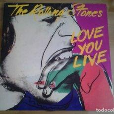Discos de vinilo: THE ROLLING STONES - LOVE YOU LIVE - DOBLE LP CBS DISCO PROMOCIONAL CBS 450208 GATEFOLD ED. ESPAÑOLA. Lote 128709983