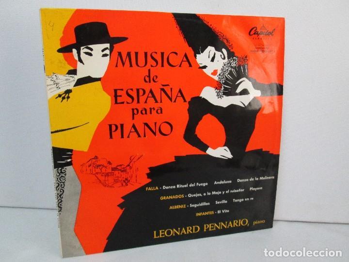 MUSICA DE ESPAÑA PARA PIANO. LEONARD PENNARIO. CAPITOL CLASSICS 1960. VER FOTOGRAFIAS ADJUNTAS (Música - Discos - LP Vinilo - Étnicas y Músicas del Mundo)