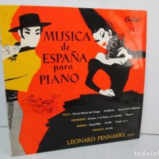 Discos de vinilo: MUSICA DE ESPAÑA PARA PIANO. LEONARD PENNARIO. CAPITOL CLASSICS 1960. VER FOTOGRAFIAS ADJUNTAS. Lote 128712059