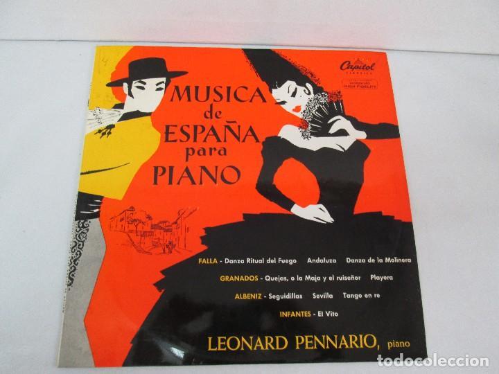 Discos de vinilo: MUSICA DE ESPAÑA PARA PIANO. LEONARD PENNARIO. CAPITOL CLASSICS 1960. VER FOTOGRAFIAS ADJUNTAS - Foto 2 - 128712059