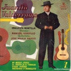 Discos de vinilo: JUANITO VALDERRAMA - MI MARIA JESUS + 3 EP.S. Lote 128713567