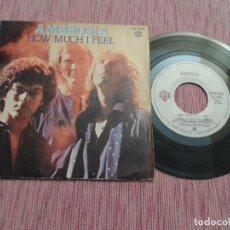 Discos de vinilo: AMBROSIA - HOW MUCH I FEEL. Lote 128715367