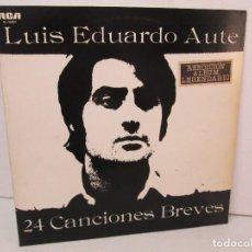 Discos de vinilo: LUIS EDUARDO AUTE. 24 CANCIONES BREVES. LP VINILO. RCA RECORDS. 1984. VER FOTOGRAFIA ADJUNTAS. Lote 128716587