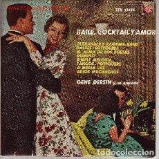 Discos de vinilo: GENE DERSIN Y SU ORQUESTA - BAILE, COCKTAIL Y AMOR - EP TELEFUNKEN 1963 . Lote 128718751