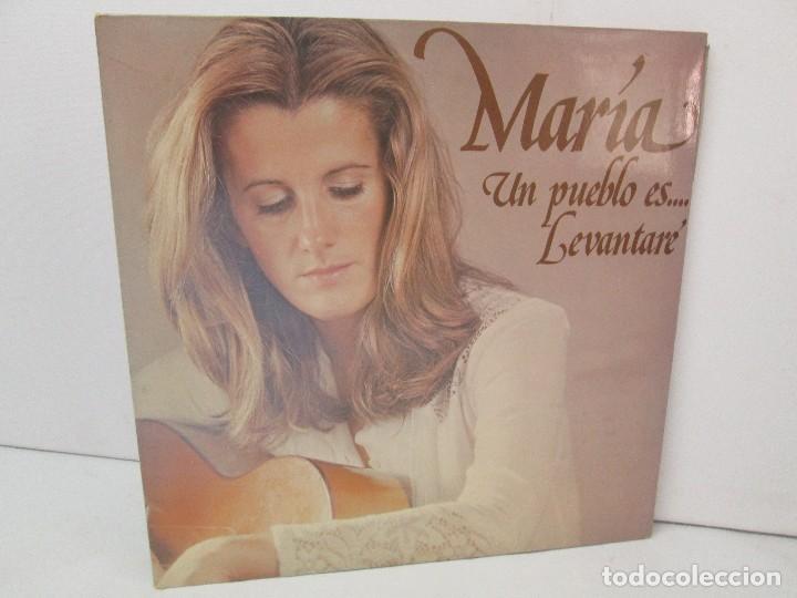 MARIA OSTIZ. UN PUEBLO ES... LEVANTARE. LP VINILO. HISPAVOX 1977. VER FOTOGRAFIAS ADJUNTAS (Música - Discos - LP Vinilo - Solistas Españoles de los 50 y 60)