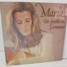 Discos de vinilo: MARIA OSTIZ. UN PUEBLO ES... LEVANTARE. LP VINILO. HISPAVOX 1977. VER FOTOGRAFIAS ADJUNTAS. Lote 128723547
