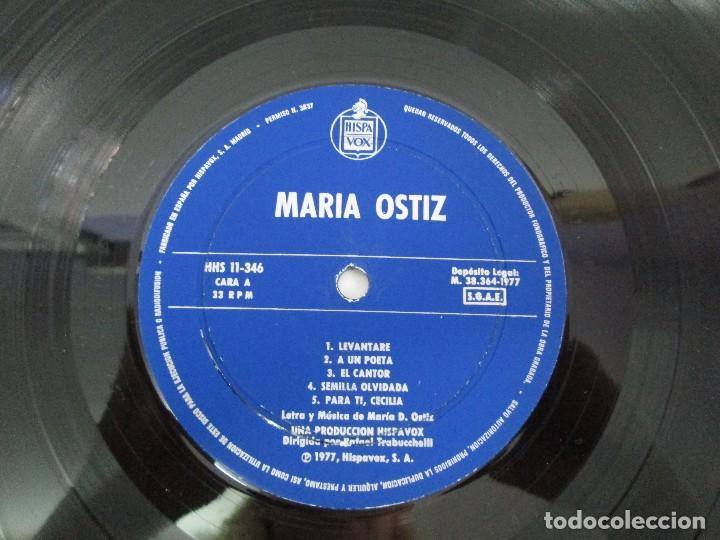 Discos de vinilo: MARIA OSTIZ. UN PUEBLO ES... LEVANTARE. LP VINILO. HISPAVOX 1977. VER FOTOGRAFIAS ADJUNTAS - Foto 7 - 128723547