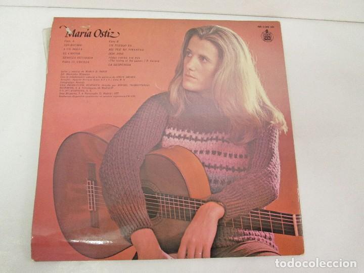 Discos de vinilo: MARIA OSTIZ. UN PUEBLO ES... LEVANTARE. LP VINILO. HISPAVOX 1977. VER FOTOGRAFIAS ADJUNTAS - Foto 8 - 128723547