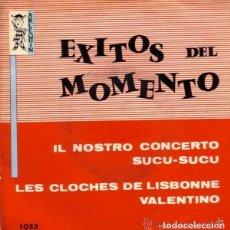 Discos de vinilo: EXITOS DEL MOMENTO - IL NOSTRO CONCERTO + 3 TEMAS - EP ARLEQUIN 1960. Lote 128724895