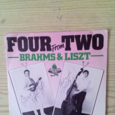 Discos de vinilo: BRAHMS & LISZT - FOUR FROM TWO - 4 TEMAS - SINGLE. Lote 128726731