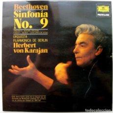 Discos de vinilo: BEETHOVEN - SINFONIA N.9 EN RE MENOR - KARAJAN - LP DEUTSCHE GRAMMOPHON 1980 BPY. Lote 128741111