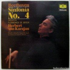 Discos de vinilo: BEETHOVEN - SINFONIA N.4 EN SI BEMOL MAYOR - KARAJAN - LP DEUTSCHE GRAMMOPHON 1980 BPY. Lote 128741343
