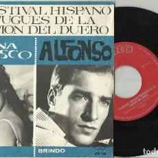 Discos de vinilo: SILVANA VELASCO / ALFONSO - VI FESTIVAL HISPANO PORTUGUES DE LA CANCION DEL DUERO 1965. Lote 128745139