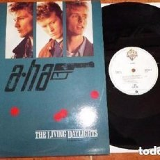 Discos de vinilo: A-HA - THE LIVING DAYLIGHTS (EXTENDED MIX) - MAXI-SINGLE SPAIN 1987. Lote 128749075