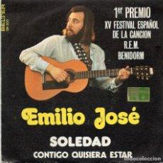 Discos de vinilo: EMILIO JOSE - SOLEDAD - SINGLE . Lote 128788127