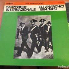 Disques de vinyle: LOS ANARQUISTAS (CANZONIERE INTERNAZIONALE) 2 LP ESPAÑA 1979 PROMO (VIN-A6). Lote 128790427