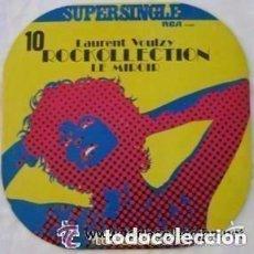 Discos de vinilo: LAURENT VOULZY - ROCKOLLECTION + LE MIROIR MAXI SINGLE RCA 1977. Lote 128818043
