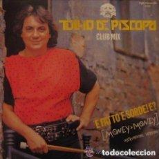 Discos de vinilo: TULLIO DE PISCOPO - 'E FATTO 'E SORDE! E? (MONEY MONEY)- MAXI ITALO. Lote 128830795