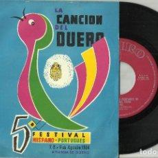 Discos de vinilo: MICHEL SINGLE PLEGARIA DE LOUISIANA / SERAS PARA MI 1964 V FESTIVAL HISPANO PORTUGUES DUERO. Lote 128831739
