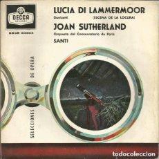 Discos de vinilo: DONIZETTI – LUCIA DI LAMMERMOOR (ESCENA DE LA LOCURA) - EP SPAIN 1960. Lote 128848671