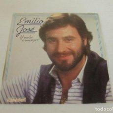Discos de vinilo: EMILIO JOSE - Y VUELTA A EMPEZAR + QUE TE SUCEDE HOY -SINGLE- HISPAVOX 1984 SPAIN. Lote 128851635