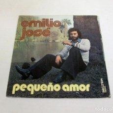 Discos de vinilo: EMILIO JOSE - PEQUEÑO AMOR + TE DARE MI MANO -SINGLE- BELTER 1976 SPAIN 08-602 SELLO PROMO COMO NUEV. Lote 128853963