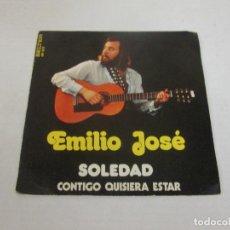 Discos de vinilo: EMILIO JOSE - SOLEDAD + CONTIGO QUISIERA ESTAR -SINGLE- BELTER 1973 SPAIN 08-303 EXCELENTE. Lote 128855363