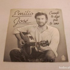 Discos de vinilo: EMILIO JOSE - CUANDO TE DIGO QUE TE AMO + CORAZON INQUIETO -SINGLE-HISPAVOX 1983 SPAIN VINILO N MINT. Lote 128856107