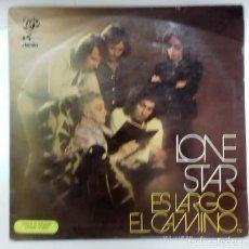 Discos de vinilo: LONE STAR - ES LARGO EL CAMINO LP PROMO ED. ESPAÑOLA 1973. Lote 128878807