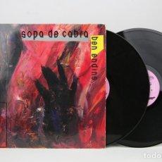 Discos de vinilo: DOBLE DISCO LP DE VINILO - SOPA DE CABRA / BEN ENDINS - ENCARTE CON LETRAS - SALSETA DISCOS ,1991. Lote 128886256