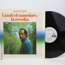 Discos de vinilo: DISCO LP DE VINILO - LLUIS LLACH / I AMB EL SOMRIURE, LA REVOLTA - ARIOLA - AÑO 1982. Lote 128886786