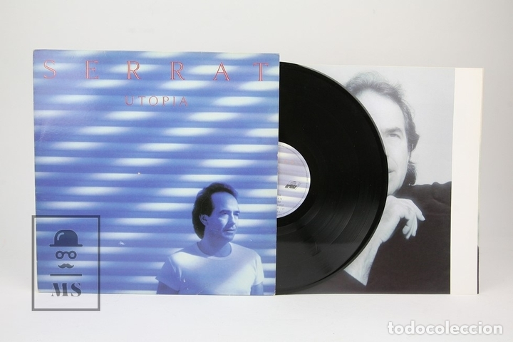 DISCO LP DE VINILO - JOAN MANUEL SERRAT / UTOPIA - ENCARTE CON LETRAS - ARIOLA - AÑO 1992 (Música - Discos - LP Vinilo - Solistas Españoles de los 70 a la actualidad)