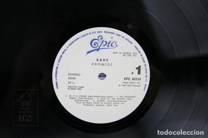 Discos de vinilo: Disco LP De Vinilo - Sade / Promise - Epic - Año 1985 - Foto 2 - 128887284