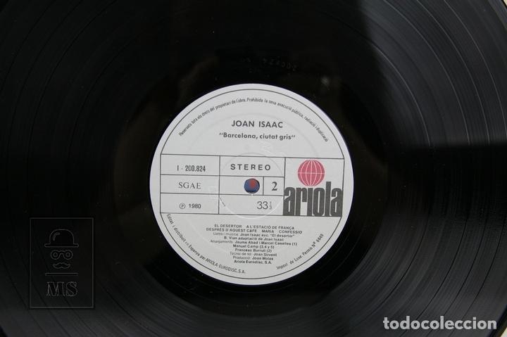Discos de vinilo: Disco LP De Vinilo - Joan Isaac / Barcelona Ciutat Gris - Con Encarte - Ariola - Año 1980 - Foto 2 - 128887562