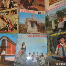Discos de vinilo: LOTE DE 10 EP'S DE MUSICA FOLKLORICA PORTUGUESA - FOLK PORTUGUES - AÑOS 60'S. Lote 128896879