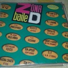 Discos de vinilo: LP DOBLE ZONA BAILE D. RECOPILATORIO VARIOS GRUPOS AÑOS 90. EMI 1991. Lote 128915507