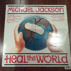 Discos de vinilo: MICHAEL JACKSON-HEAL THE WORLD.SPECIAL POSTER BAG EDITION.MAXI. Lote 128934923