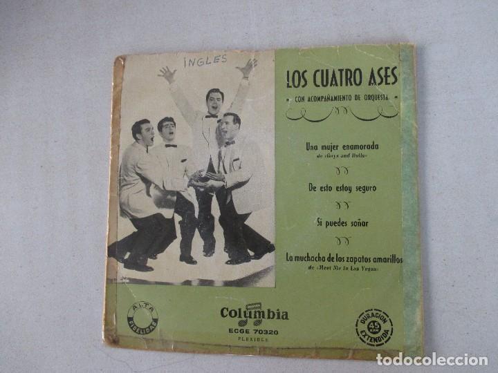 LOS CUATRO ASES CON ACOMPAÑAMIENTO DE ORQUESTA UNA MUJER ENAMORADA +3 COLUMBIA EDICIÓN ESPAÑOLA (Música - Discos de Vinilo - EPs - Pop - Rock Internacional de los 50 y 60)