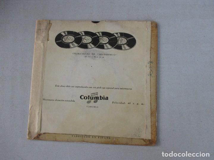 Discos de vinilo: Los Cuatro Ases con acompañamiento de orquesta Una mujer enamorada +3 COLUMBIA EDICIÓN ESPAÑOLA - Foto 2 - 128935947