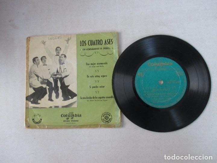 Discos de vinilo: Los Cuatro Ases con acompañamiento de orquesta Una mujer enamorada +3 COLUMBIA EDICIÓN ESPAÑOLA - Foto 3 - 128935947