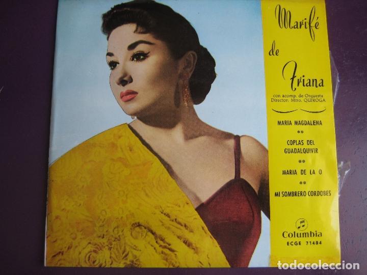 293a6372f2c MARIFE DE TRIANA EP COLUMBIA 1961 MARIA DE LA O  MARIA MAGDALENA +2 CANCION