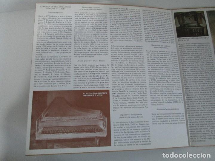 Discos de vinilo: MUSICA ANTIGUA ARAGONESA II. VIEJO TECLADO S. XVIII. LP VINILO. MOVIEPLAY 1978. VER FOTOGRAFIAS - Foto 3 - 128944935