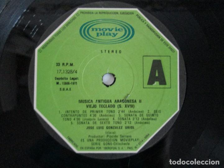 Discos de vinilo: MUSICA ANTIGUA ARAGONESA II. VIEJO TECLADO S. XVIII. LP VINILO. MOVIEPLAY 1978. VER FOTOGRAFIAS - Foto 6 - 128944935
