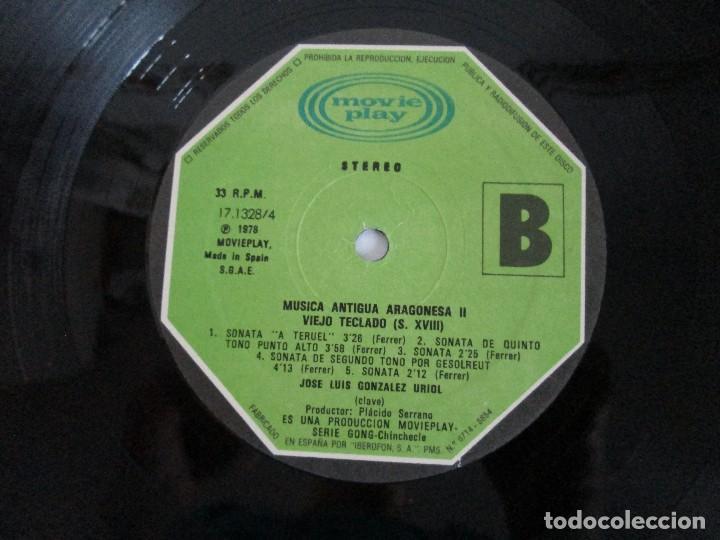 Discos de vinilo: MUSICA ANTIGUA ARAGONESA II. VIEJO TECLADO S. XVIII. LP VINILO. MOVIEPLAY 1978. VER FOTOGRAFIAS - Foto 8 - 128944935