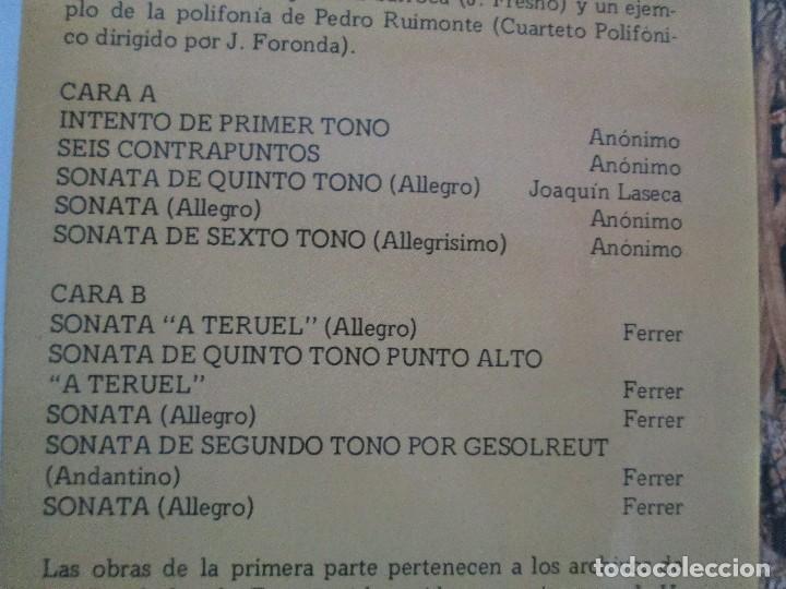 Discos de vinilo: MUSICA ANTIGUA ARAGONESA II. VIEJO TECLADO S. XVIII. LP VINILO. MOVIEPLAY 1978. VER FOTOGRAFIAS - Foto 9 - 128944935
