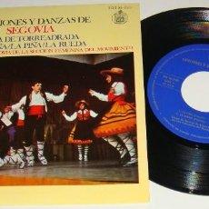 Discos de vinilo: EP- CANCIONES Y DANZAS DE SEGOVIA - JOTA DE TORREADRADA /LA NIÑA/LA PIÑA/LA RUEDA - AUTOGRAFIADO . Lote 128946627