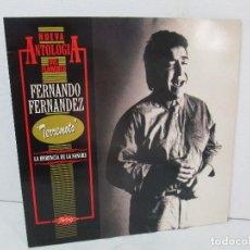 Discos de vinilo: FERNANDO FERNANDEZ. TERREMOTO. LA HERENCIA DE LA SANGRE. FLAMENCO LP VINILO. TWINS 1989. Lote 128949247