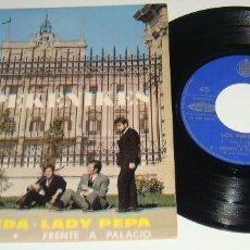 Discos de vinilo: EP- LOS PEKENIKES - HILOS DE SEDA / LADY PEPA / ARENA CALIENTE / FRENTE A PALACIO - MADE IN FRANCE -. Lote 128949411