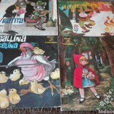 Discos de vinilo: LOTE DISCOS VINILO CUENTOS INFANTILES AÑOS 60. Lote 128958543